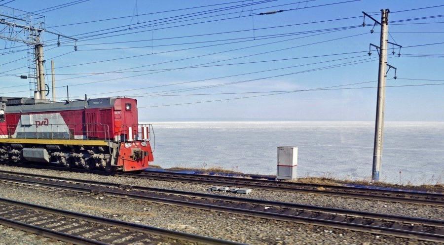 Reise in Russland, Zug mit Baikalsee