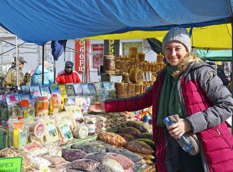 Reise in Russland, Reiseleiterin Inna