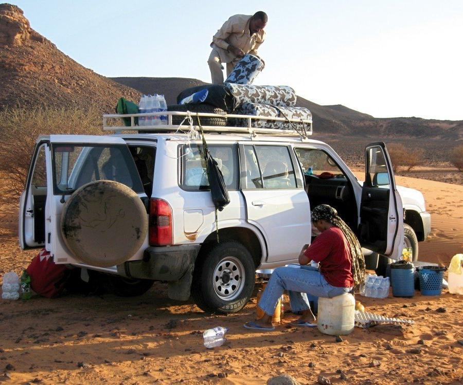 Reise in Sudan, Camping in der Wüste