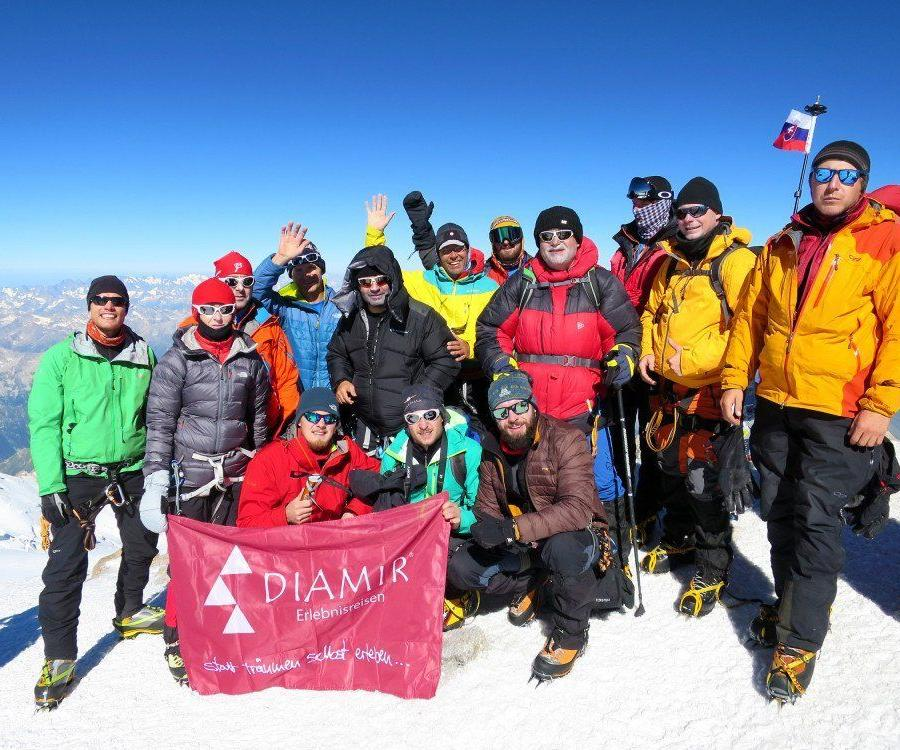 Reise in Russland, Die letzten Meter zum Gipfel des Elbrus.