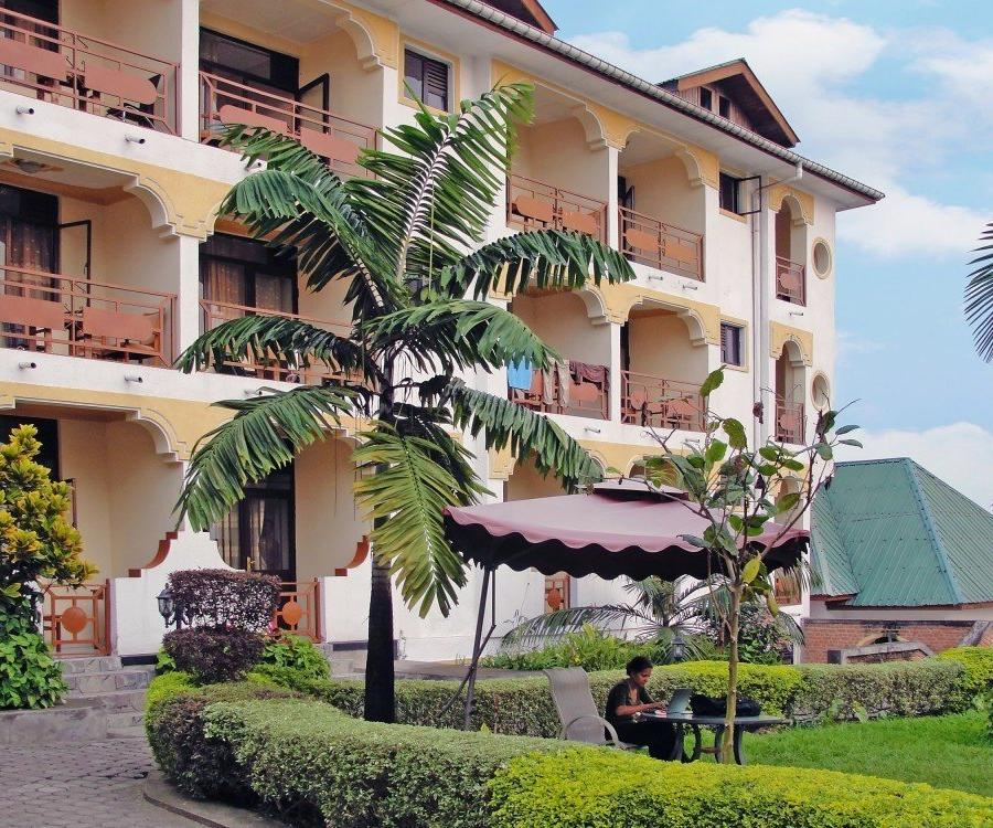 Reise in Demokratische Republik Kongo, Caritas Hotel am Kivu-See