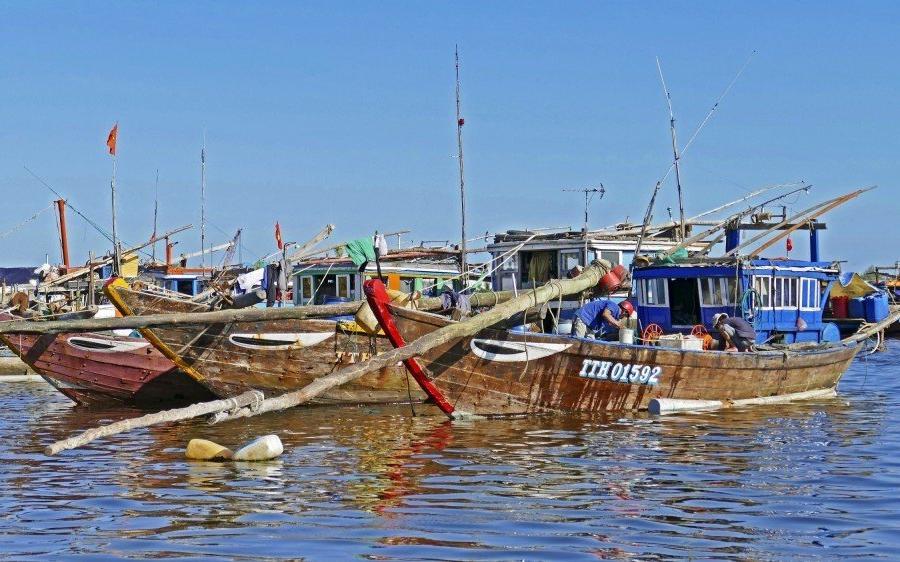 Reise in Vietnam, Boote bei Da Nang
