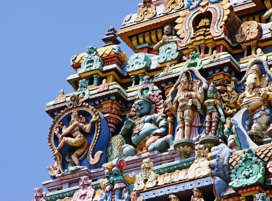 Reise in Indien, Sri-Meenakshi-Tempel in Madurai