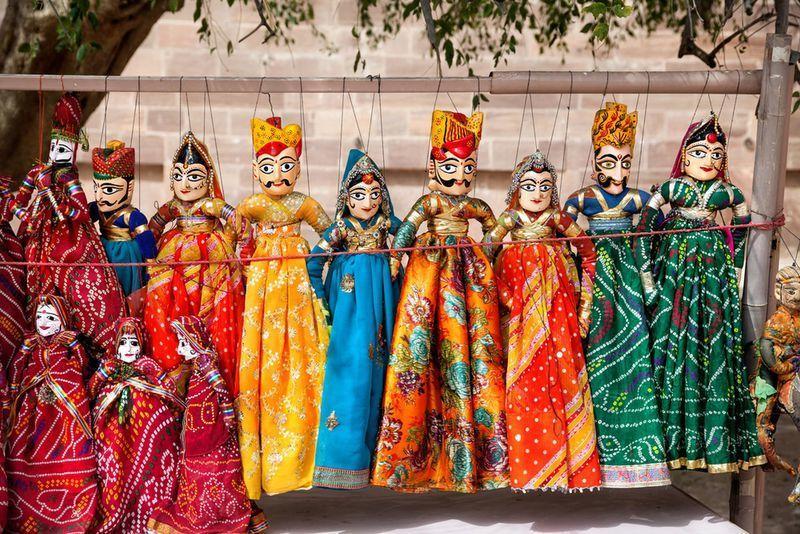 Reise in Indien, Traditionelle Marionetten aus Rajasthan