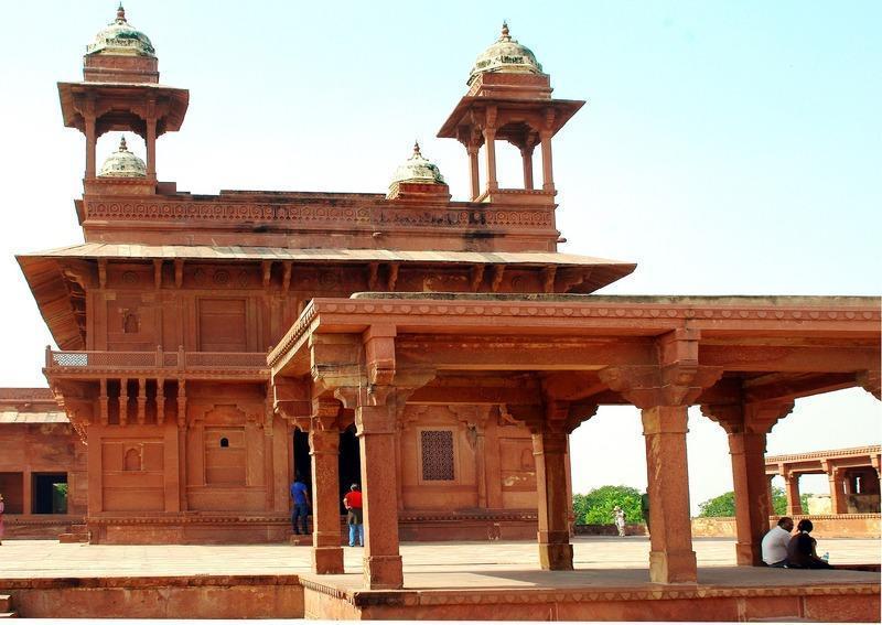 Reise in Indien, Besichtigung in der Geisterstadt Fatehpur Sikri