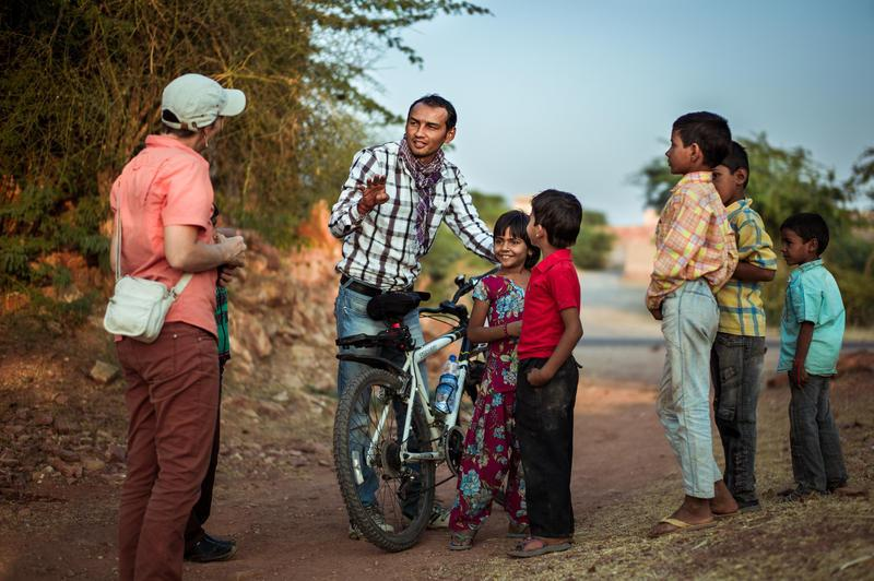 Reise in Indien, Begegnungen während der Radtetappen im ländlichen Rajasthan