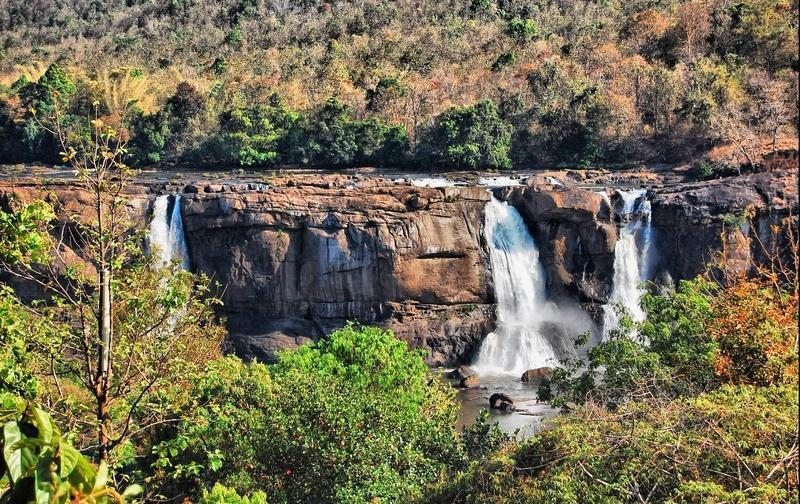 Reise in Indien, Wasserfall in Südindien
