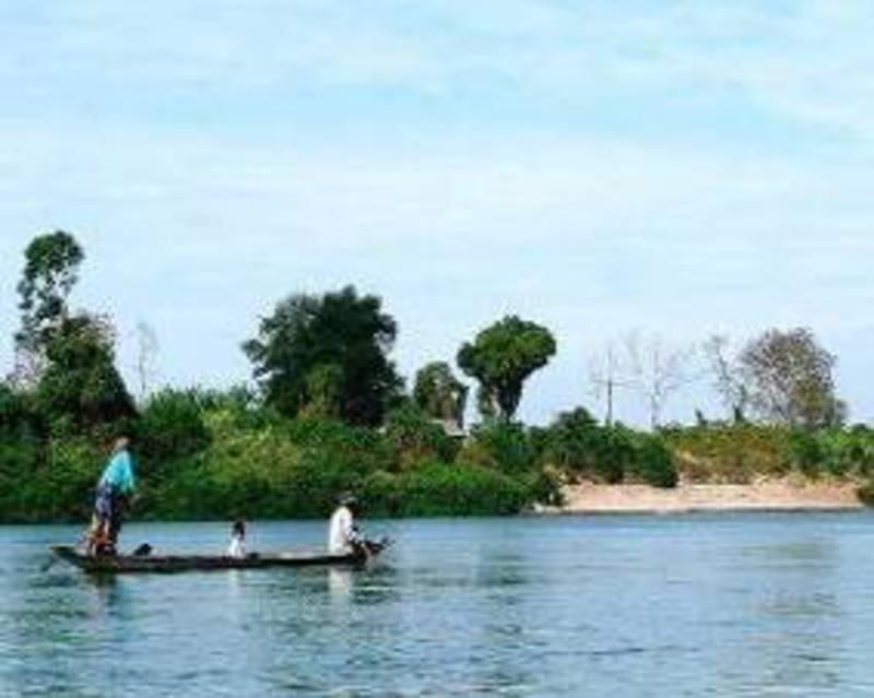 Reise in Kambodscha, Kambodscha - Flussfahrt auf dem Kampot