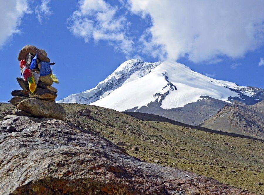 Reise in Indien, Markha Valley Trek, Blick von Nimaling auf Kang Yatze II