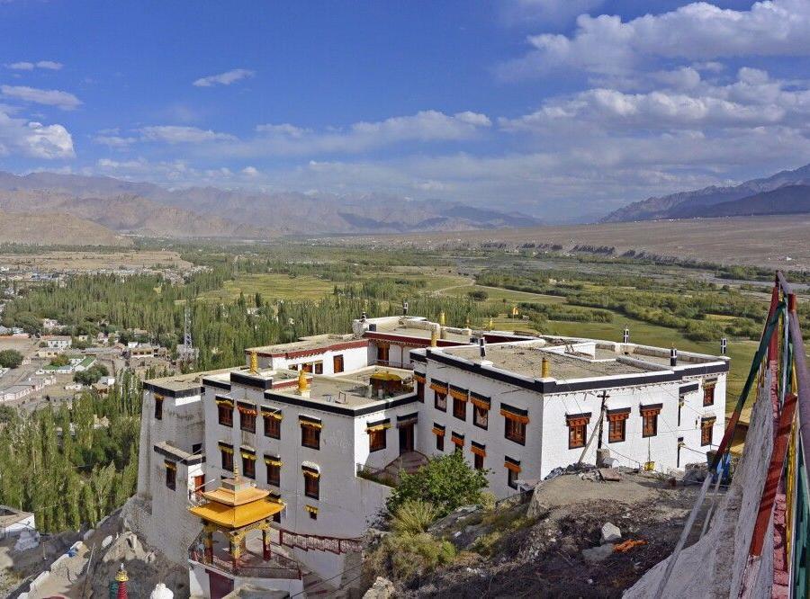 Reise in Indien, Kloster Spituk, Blick ins Industal nach Südosten