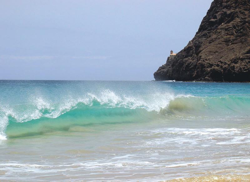 Reise in Kap Verde, Strand auf São Vicente