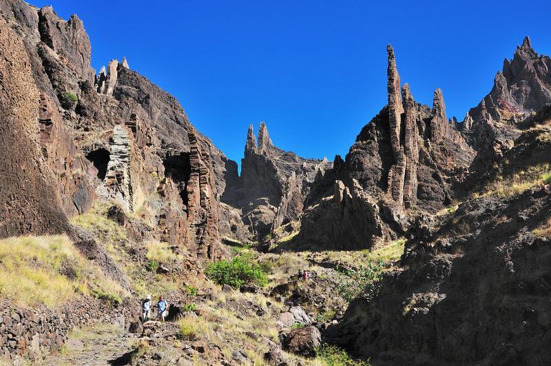 Reise in Kap Verde, Basaltformationen von Alto Mira