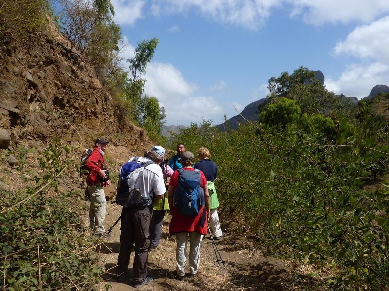Reise in Kap Verde, Wege durch üppige Vegetation