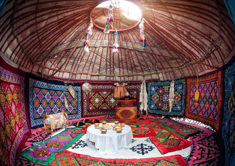 Reise in Kirgistan, Nomadenjurte