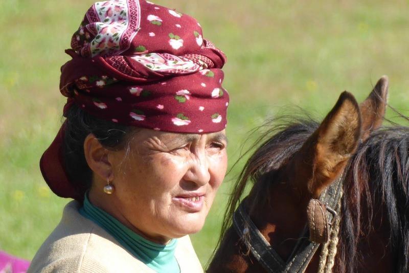 Reise in Kirgistan, Kirgisische Nomadenfrau