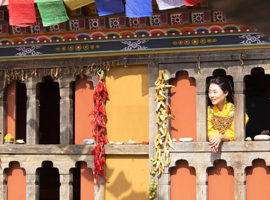 Reise in Bhutan, Dzong in Punakha