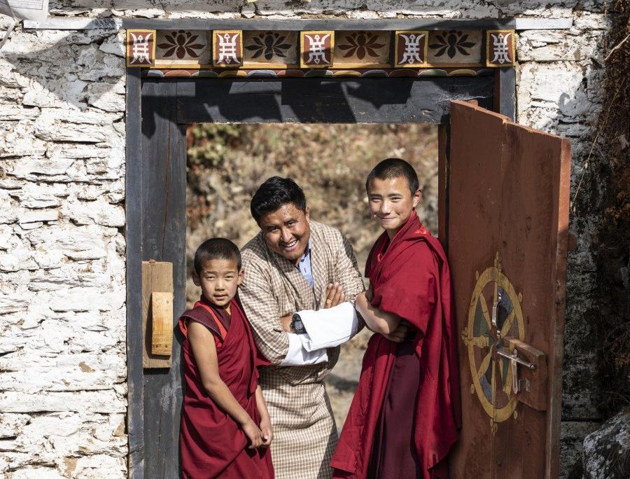 Reise in Bhutan, Thangka beim Klosterfestival in Paro