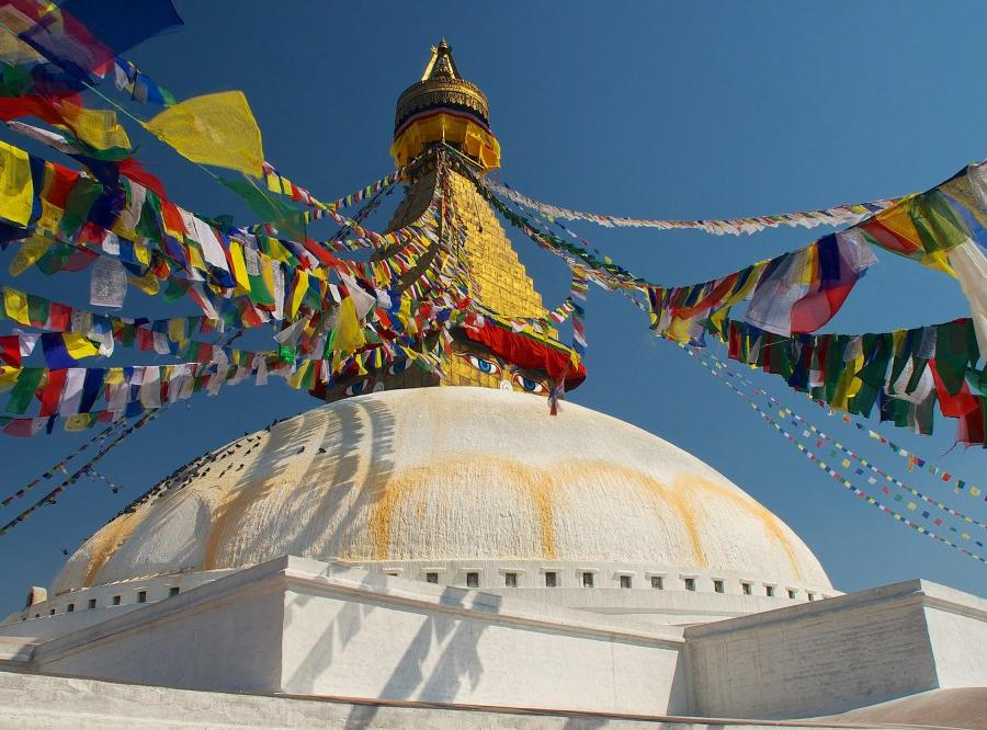 Reise in Bhutan, Boudhanath in Kathmandu