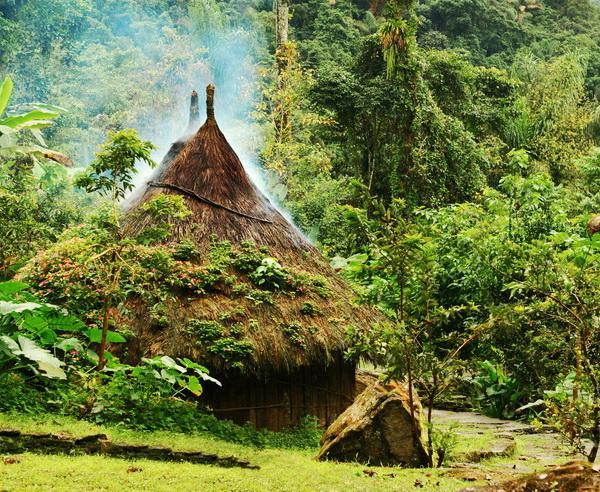Reise in Kolumbien, Traditionelle Hütte im Tayrona NP