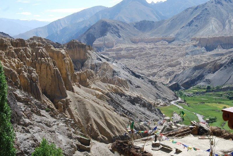 Reise in Indien, Atemberaubenden Panoramablick auf die umliegenden Berge
