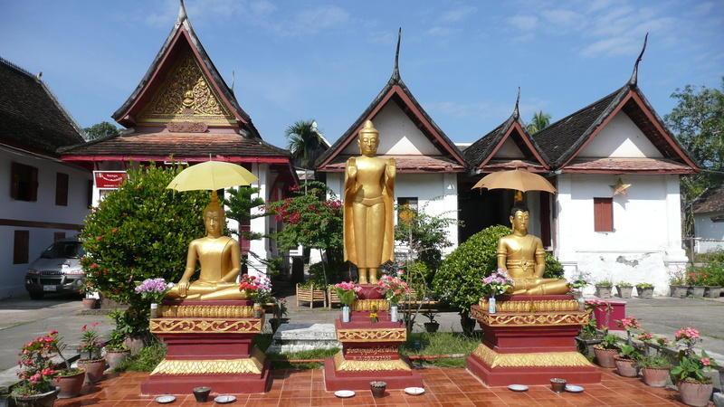 Reise in Laos, Tempel in Luang Prabang