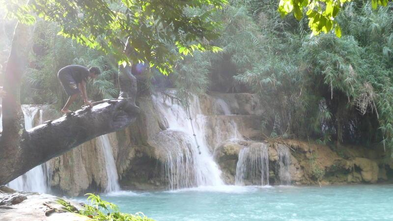 Reise in Laos, Kuang Xi Wasserfall bei Luang Prabang Laos