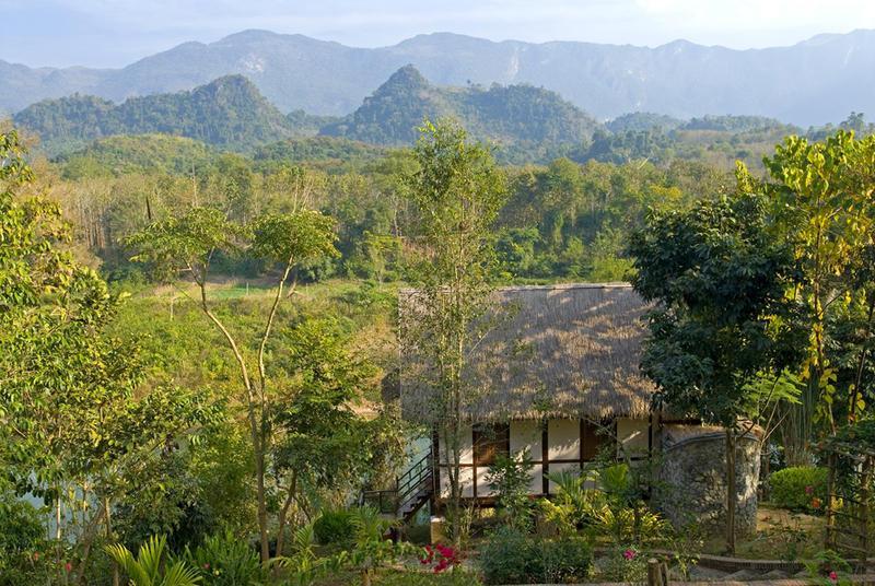 Reise in Laos, Ausblick vom Lao Spirit Resort Laos