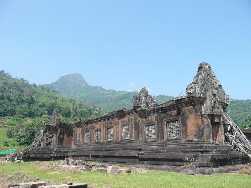 Reise in Laos, Ruinen von Wat Phou in Südlaos