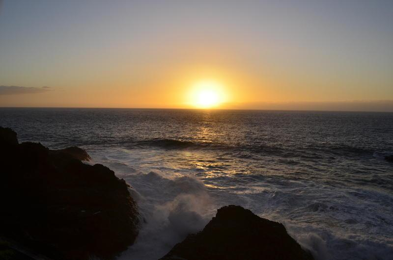 Reise in Spanien, Sonnenuntergang