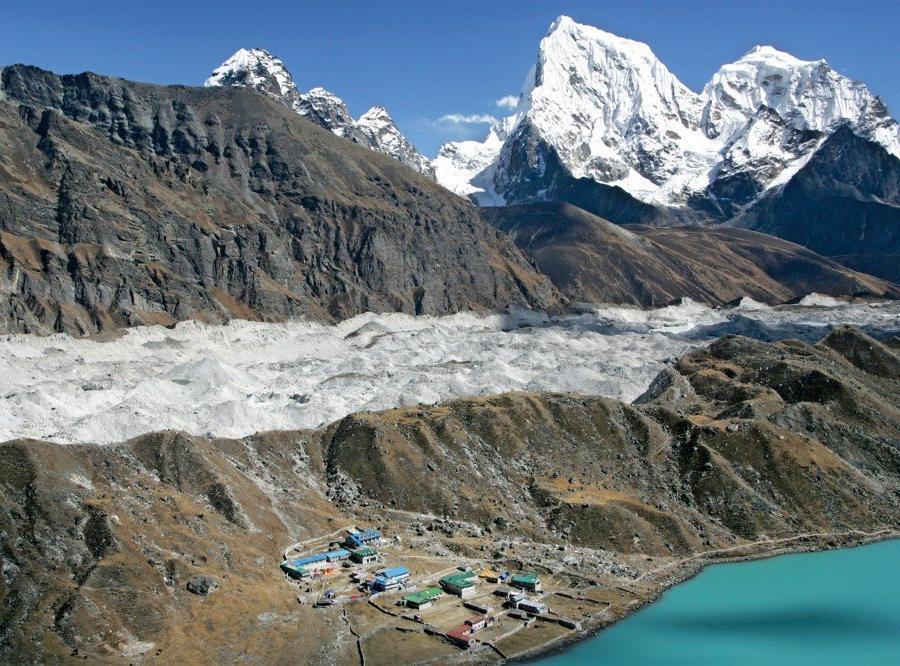 Reise in Nepal, Spaziergang zur Höhenanpassung nahe Machhermo (4410m)