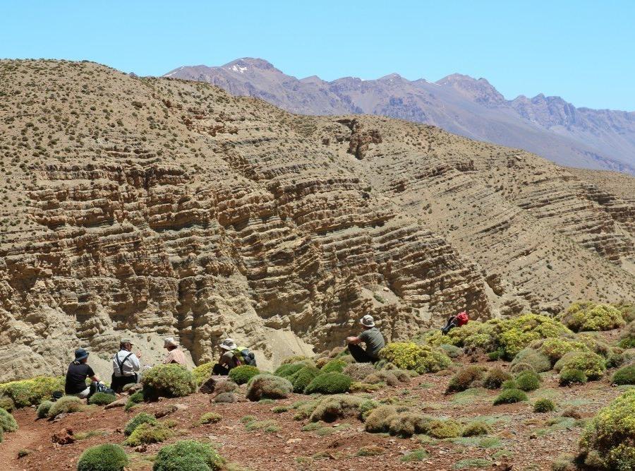 Reise in Marokko, Pause mit Ausblick