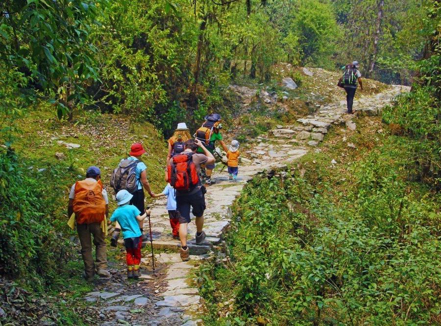 Reise in Nepal, Wanderer in der Annapurna-Region