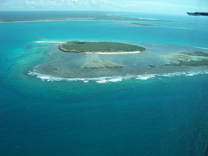 Reise in Mosambik, Blick aus dem Flugzeug