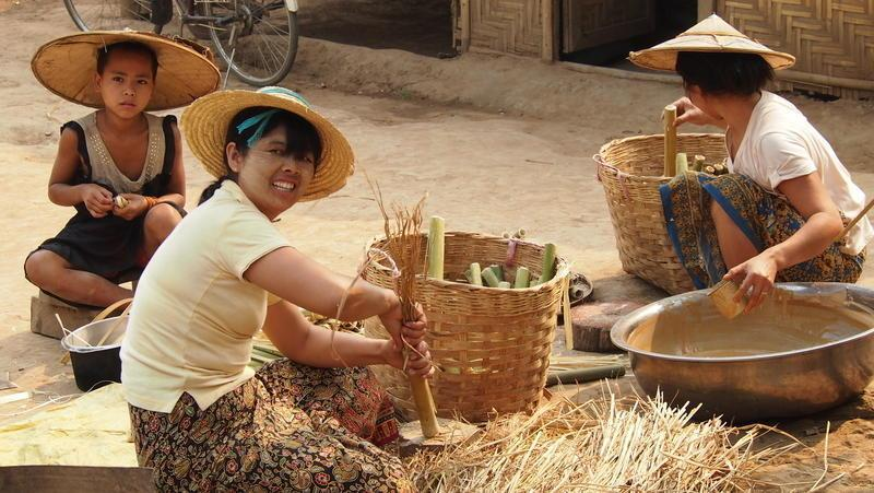 Reise in Myanmar, Begegnungen am Samlar-See in Myanmar