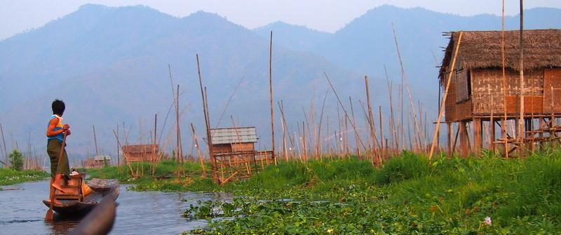 Reise in Myanmar, Aktive Gruppenreise mit Bootsfahrt auf dem Inle-See