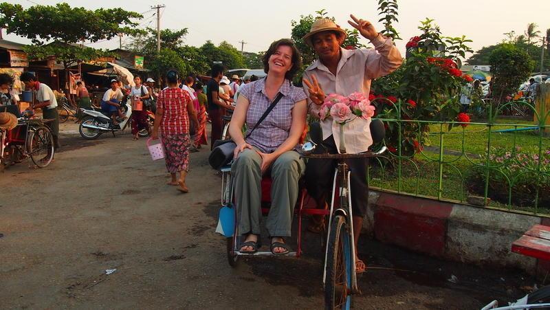 Reise in Myanmar, lokale Transportmittel in Yangon, der ehemaligen Hauptstadt Myanmars