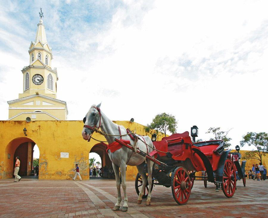 Reise in Kolumbien, Bunte Straßenzüge in Bogota