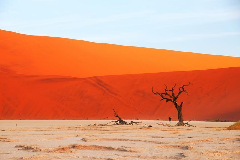 Reise in Namibia, Farbspiel in der Sossusvlei