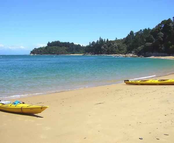Reise in Neuseeland, Kayak fahren im Abel-Tasman-Nationalpark