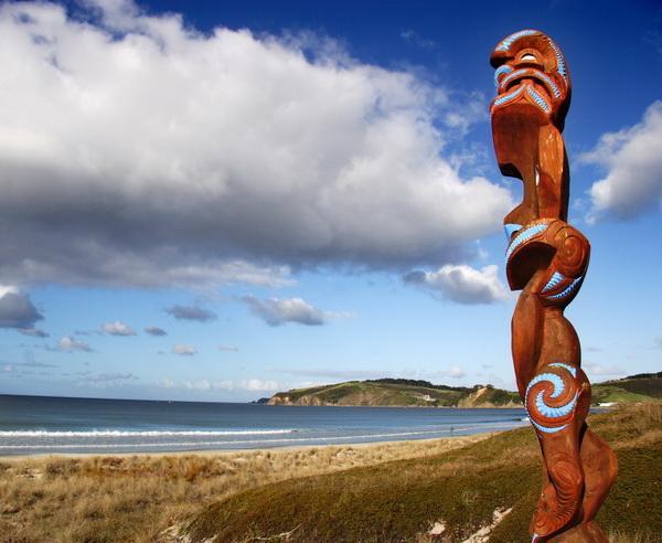 Reise in Neuseeland, Raue Küstenlandschaft in Neuseeland