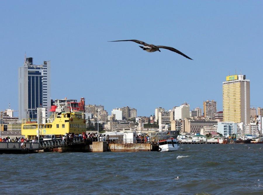 Reise in Mosambik, Blick auf die Skyline von Maputo