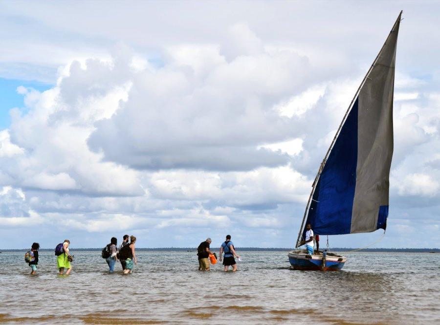 Reise in Mosambik, Tour mit traditioneller Dhau in der Bucht von Inhambane