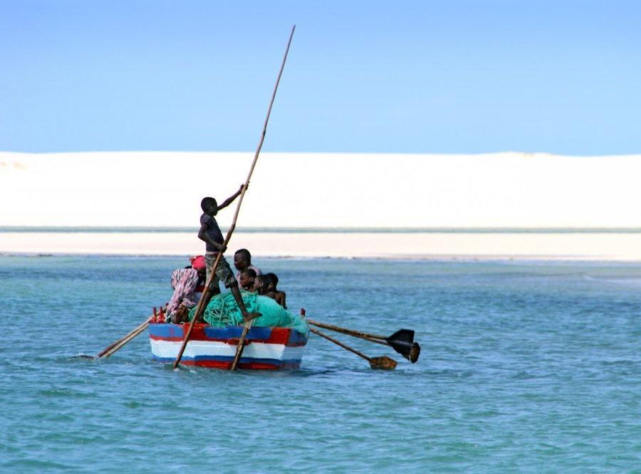 Reise in Mosambik, Bootstransport vor der Benguerra-Insel, Bazaruto-Archipel