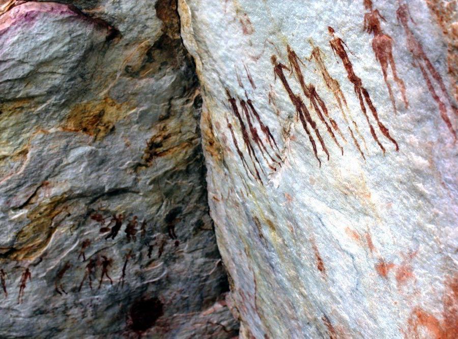 Reise in Mosambik, San-Felsmalereien nahe Chikukwa, Chimanimani-Nationalreservat