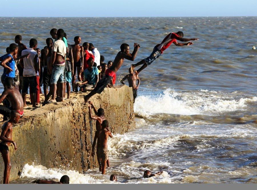 Reise in Mosambik, Am Stadtstrand von Beira
