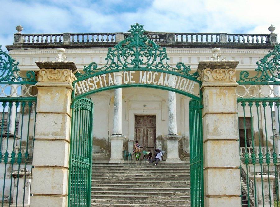 Reise in Mosambik, Krankenhaus aus der Kolonialzeit, Ilha de Moçambique