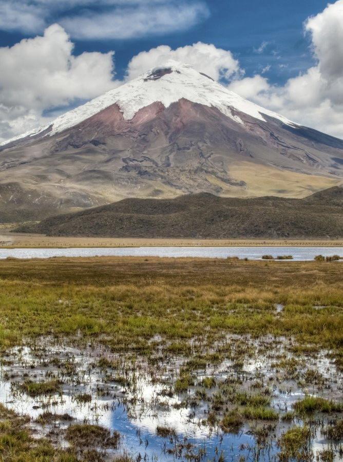 Reise in Ecuador, Blick auf den Cotopaxi