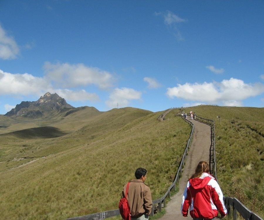 Reise in Ecuador, Wandern am Rucu Pichincha