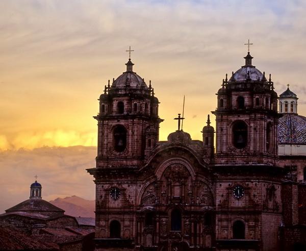Reise in Peru, Cusco bei Sonnenuntergang