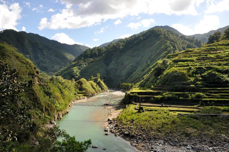 Reise in Philippinen, Philippinische Landschafr bei Bontoc im Chico-Tal